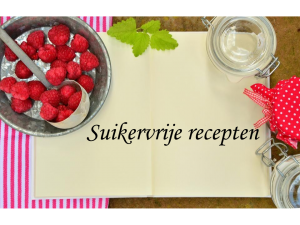 suikervrij recepten