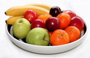 fruitschaal suiker in fruit